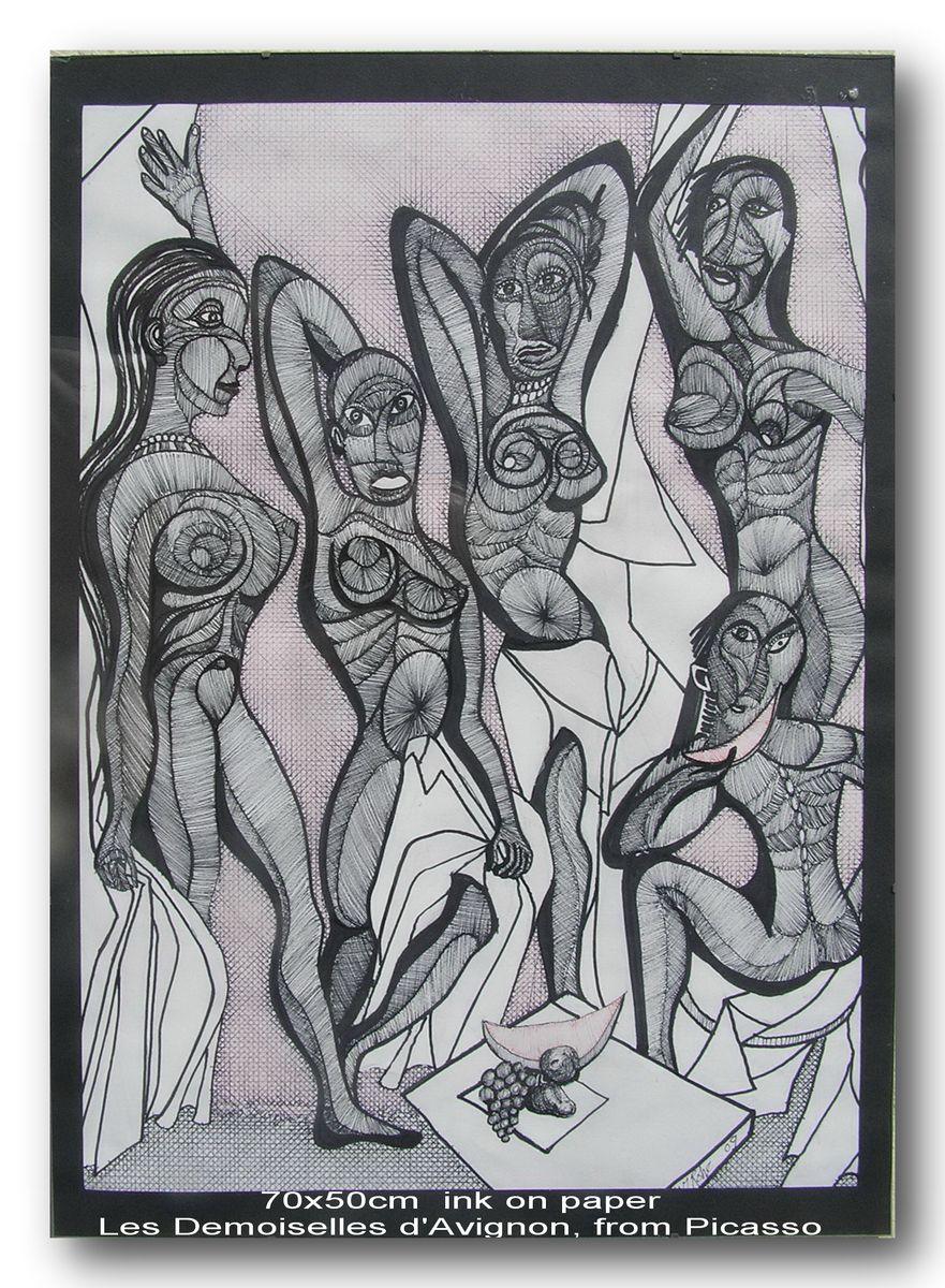 Les Demoiselles d'Avignon, from Picasso