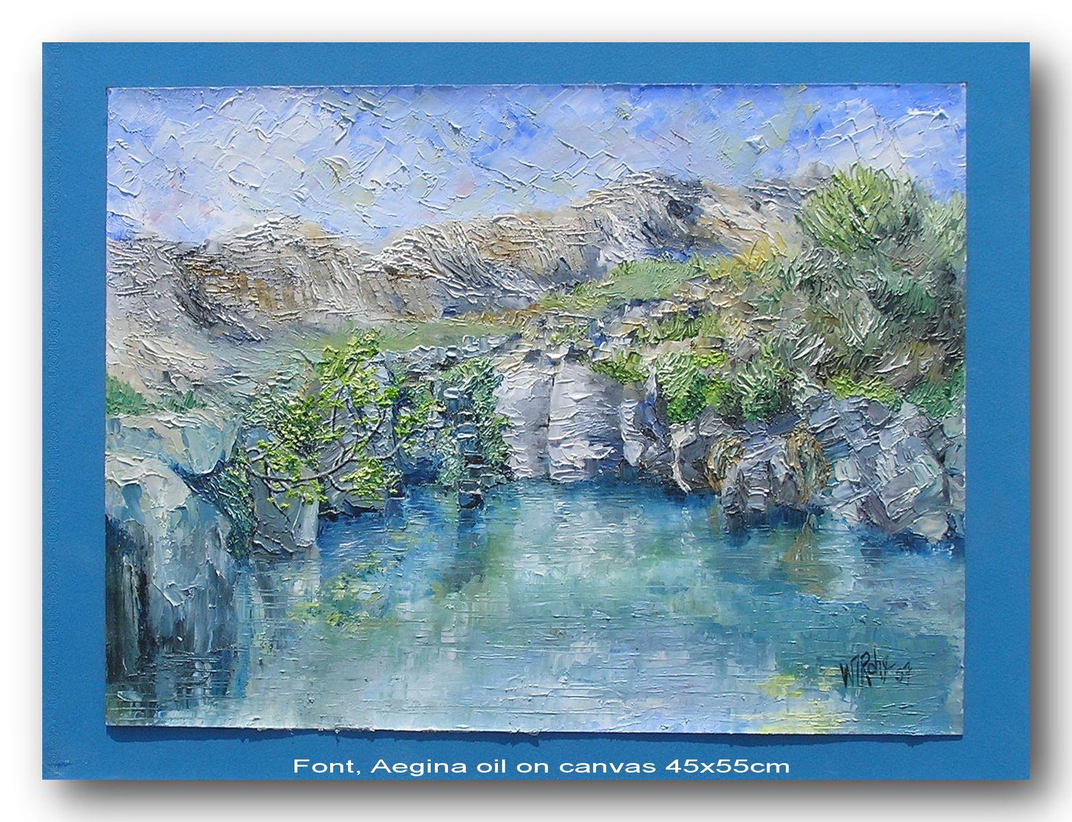 Font, Aegina
